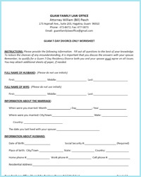 7-Day Divorce Only Worksheet