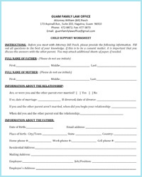 Worksheets Child Support Worksheet child support on guam worksheets family law office worksheet