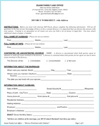 Printables Divorce Worksheet divorce on guam local worksheets family law office worksheet with children